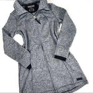 Kenneth Cole Gray Long Hoodie Zip Jacket Coat S